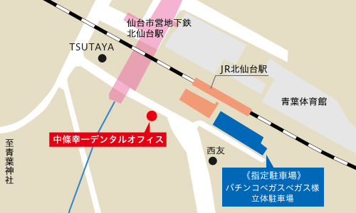 指定駐車場の地図
